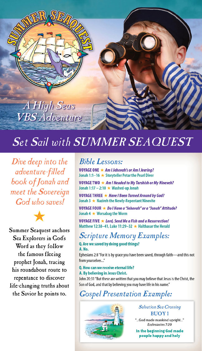 VBS Reachout Adventures | A spiritually engaging and Christ-centered VBS program | Summer Seaquest VBS 2019